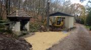 Les travaux entre la réserve et la laverie sont terminés