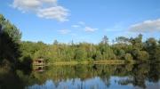 La cabane de l\'étang de pêche