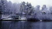 La neige tombe à flot