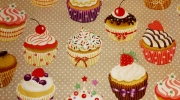 Cupcakes gourmands, interdit de manger les rideaux !
