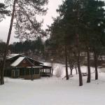 Le restaurant sous la neige
