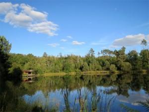 Notre étang de pêche dans le Périgord