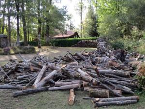 Le tas de bois en vrac