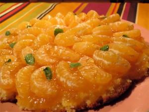 Zoom sur le gâteau citron-mandarine... Un régal... :-)