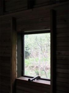 Les fenêtres sont poncées et préparées