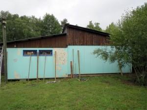 Le mur du fond au début des travaux