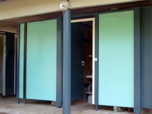 Les murs étaient jusqu'à présent vert d'eau.