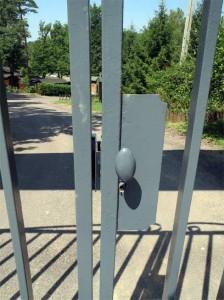 Le portail avant...