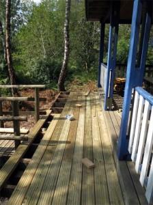 La nouvelle terrasse est presque terminée