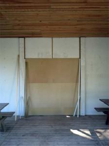 Nous en avons profité pour refaire le mur intérieur qui était abimé