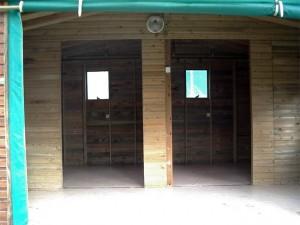 La cabane vidée de son mobilier
