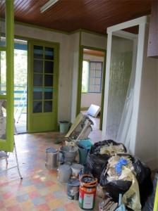 L'intérieur est également en chantier