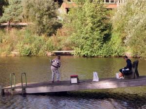 Partie de pêche pour Clarence et Clothaire