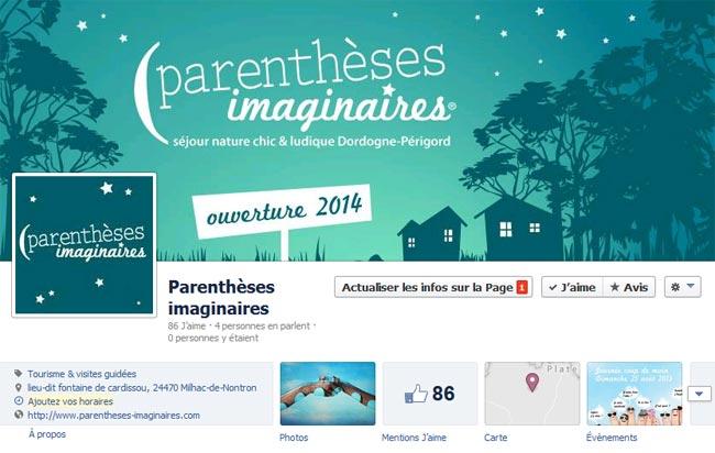 La page facebook des parenthèses imaginaires