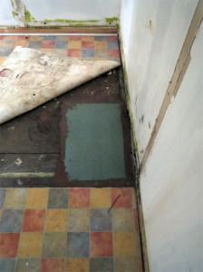 Le plancher réparé