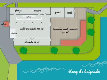 Salle de réception et ses abords - Parenthèses imaginaires