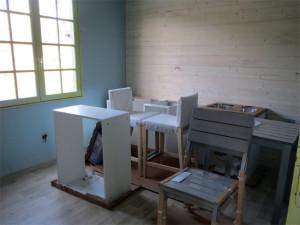Les premiers meubles sont montés