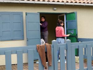 Alex et Colette prépare la laverie