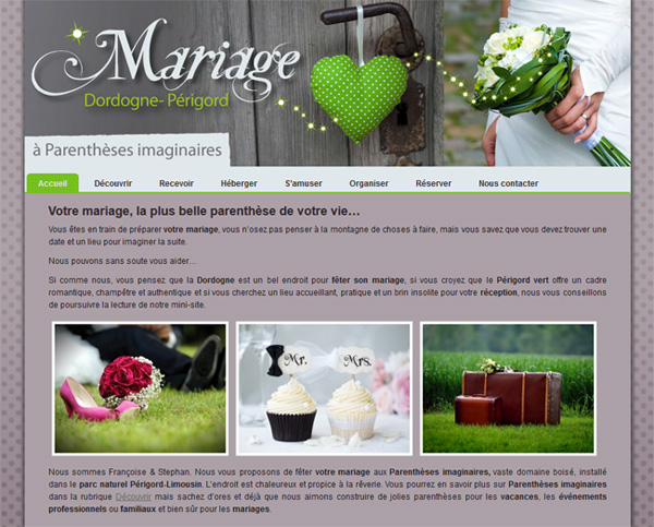 Le site mariage.dordogne-perigord.fr