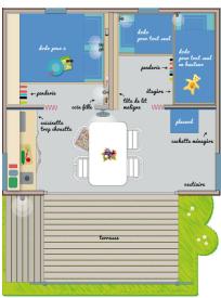 plan cabane 4 personnes - Parenthèses imaginaires