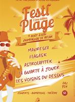 affiche festi plage - Champagnac de Belair