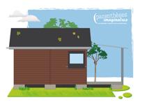 dessin cabane glamping - Parenthèses imaginaires