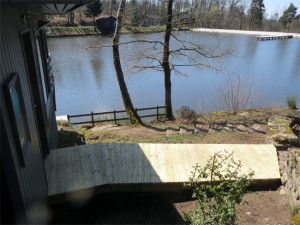 Avec une vue sur l'étang