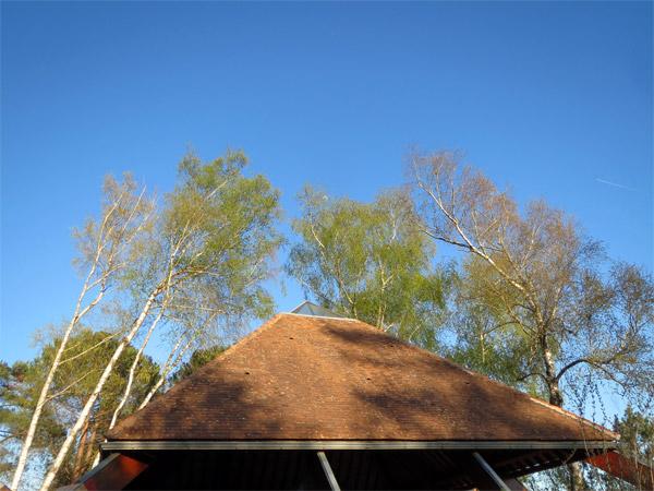 Le toit de la pyramide tout propre