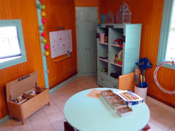 La ludothèque de Parenthèses imaginaires et les jeux de plein air