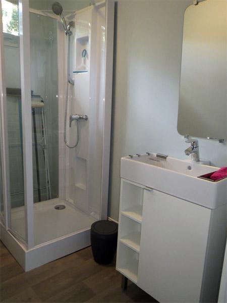 La salle de bain du chalet vintage