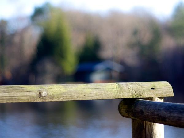 Un ponton de pêche au premier plan