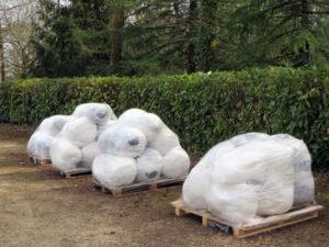 4 palettes prêtes à être recyclées